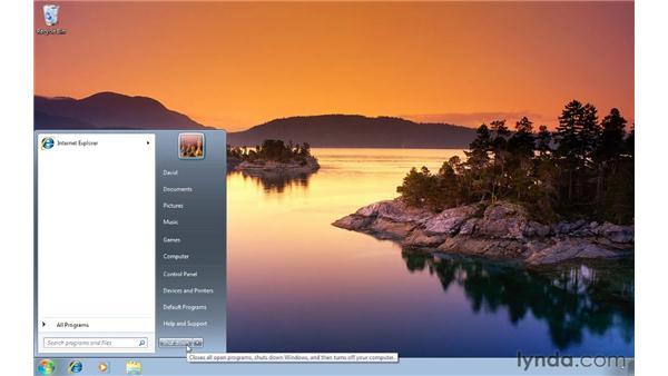 Customizing the shutdown button: Windows 7 Tips and Tricks