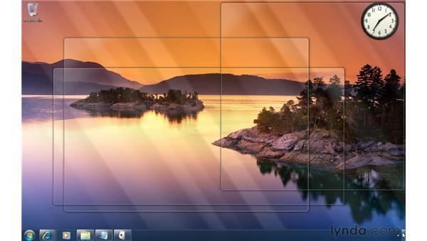 Sneaking a peek at the desktop: Windows 7 Tips and Tricks
