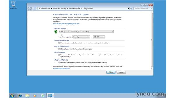 Preventing data loss due to automatic updates: Windows 7 Tips and Tricks