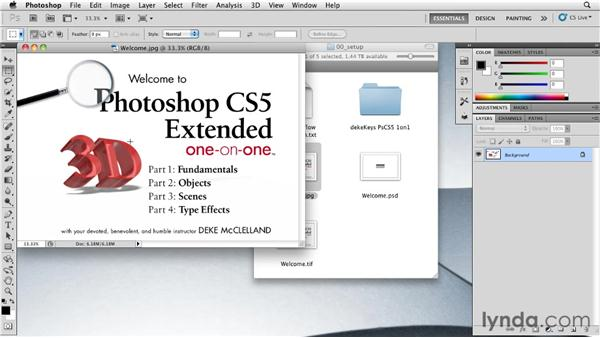 Making Photoshop your default image editor on a Mac: Photoshop CS5 Extended One-on-One: 3D Fundamentals