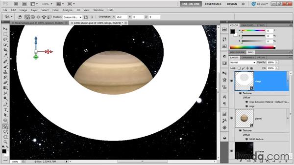 Converting 2D art to 3D: Photoshop CS5 Extended One-on-One: 3D Fundamentals