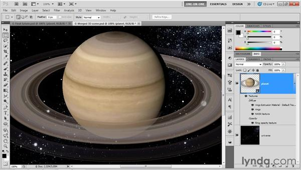 Lighting a scene: Photoshop CS5 Extended One-on-One: 3D Fundamentals