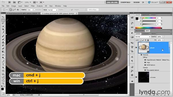 Fixing ambient light and strange rings: Photoshop CS5 Extended One-on-One: 3D Fundamentals