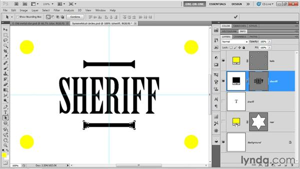 Cutting holes from shapes: Photoshop CS5 Extended One-on-One: 3D Fundamentals
