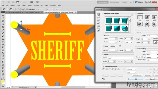 """From circles to """"near spheres"""" in Repoussé: Photoshop CS5 Extended One-on-One: 3D Fundamentals"""