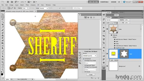 Merge, texture, gloss, and shine: Photoshop CS5 Extended One-on-One: 3D Fundamentals
