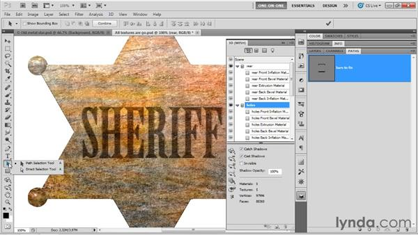 Editing an internal constraint: Photoshop CS5 Extended One-on-One: 3D Fundamentals