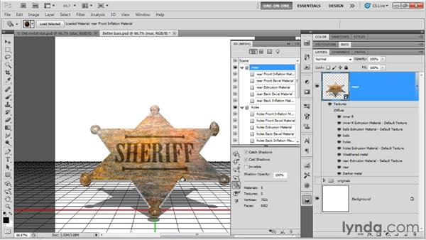 Rotating and positioning by the numbers: Photoshop CS5 Extended One-on-One: 3D Fundamentals