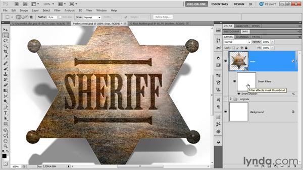 Sharpening and introducing a background: Photoshop CS5 Extended One-on-One: 3D Fundamentals