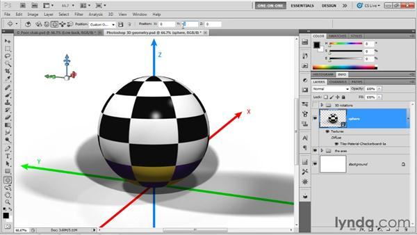 3D explained: XYZ position and orientation: Photoshop CS5 Extended One-on-One: 3D Fundamentals