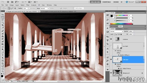 Editing and replacing a model: Photoshop CS5 Extended One-on-One: 3D Fundamentals
