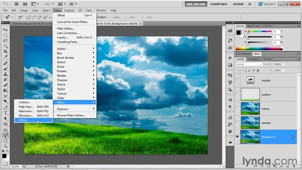Making a spherical panorama: Photoshop CS5 Extended One-on-One: 3D Fundamentals
