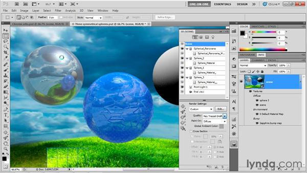 Designing and saving a custom material: Photoshop CS5 Extended One-on-One: 3D Fundamentals