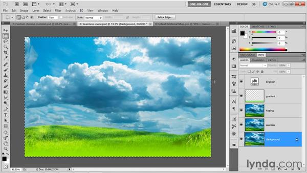 Replacing an environment map: Photoshop CS5 Extended One-on-One: 3D Fundamentals