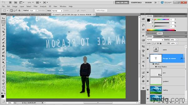 Adding a person to a 3D scene: Photoshop CS5 Extended One-on-One: 3D Fundamentals
