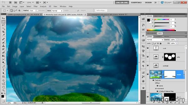 Real-world upsampling: Photoshop CS5 Extended One-on-One: 3D Fundamentals