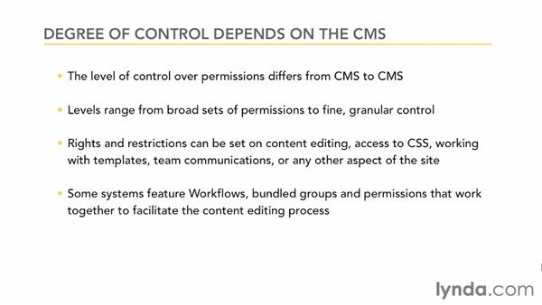 Understanding users, groups, and permissions: CMS Fundamentals