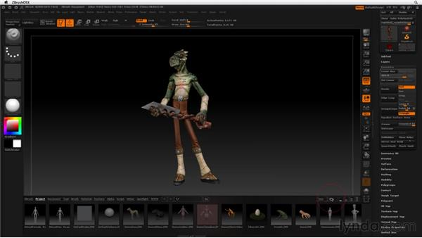 A note on screen resolution: ZBrush 4 Essential Training