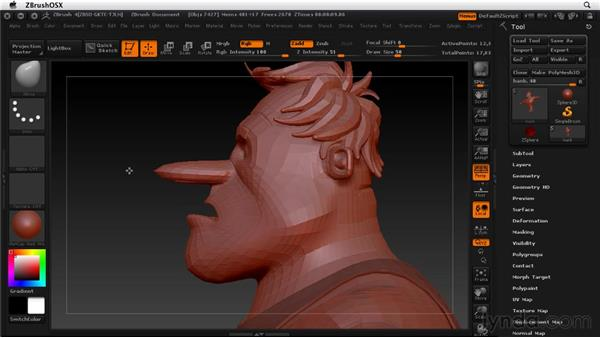 Viewing your work in various ways: ZBrush 4 Essential Training