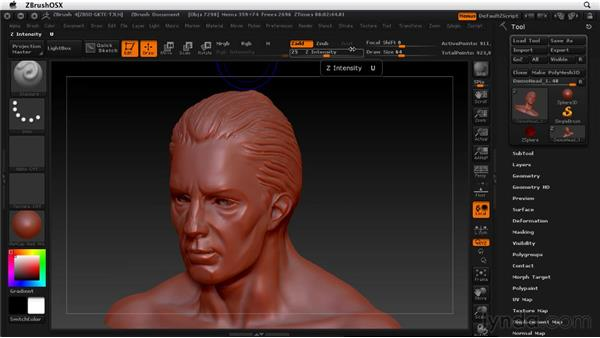 Switching to Smooth mode: ZBrush 4 Essential Training