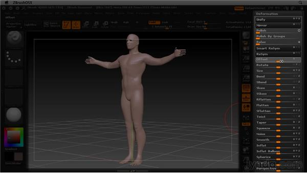 Using deformation: ZBrush 4 Essential Training