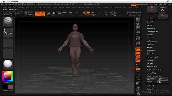 Understanding surface normal direction: ZBrush 4 Essential Training