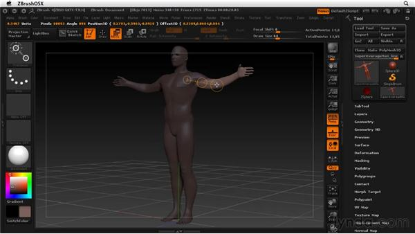 Masking with Transpose: ZBrush 4 Essential Training