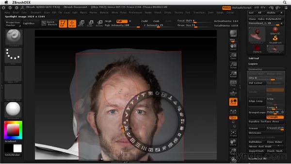 Texturing a head: A practical approach: ZBrush 4 Essential Training