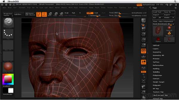 Tips for making good edge flow: ZBrush 4 Essential Training