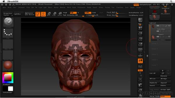 Transferring detail from the old model to the new: ZBrush 4 Essential Training