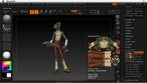 Understanding the UV maps: ZBrush 4 Essential Training