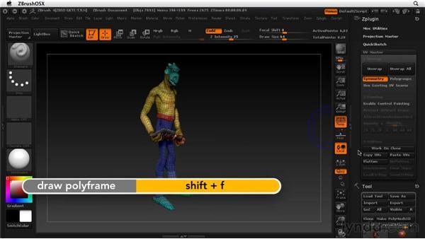 Using UV Master: ZBrush 4 Essential Training
