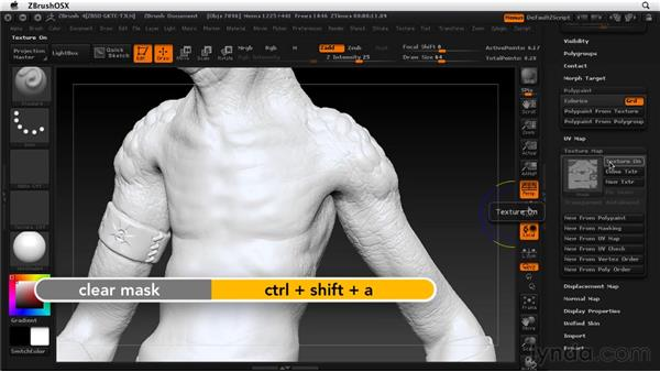 Creating texture maps: ZBrush 4 Essential Training