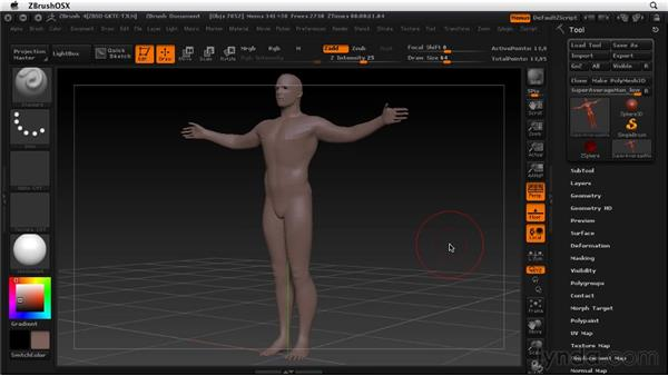 Recovering a corrupted model: ZBrush 4 Essential Training