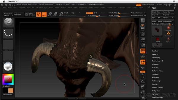 Examples of ZBrush work: ZBrush 4 Essential Training