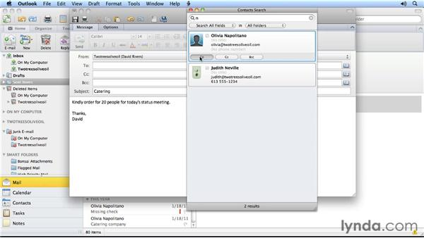 Two address book tricks: Outlook for Mac 2011 Power Shortcuts