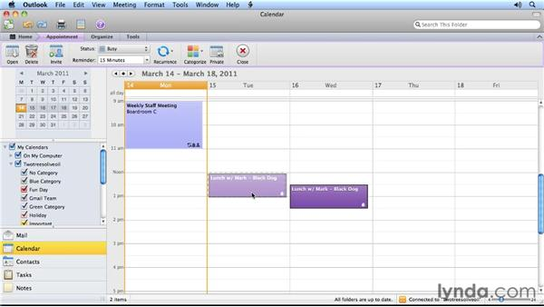 Three ways to reschedule appointments: Outlook for Mac 2011 Power Shortcuts