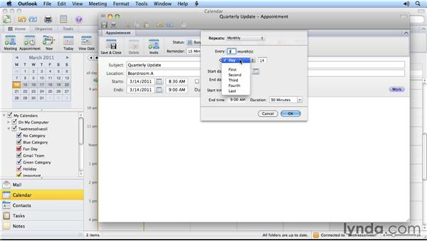 Two ways to create a recurring appointment: Outlook for Mac 2011 Power Shortcuts