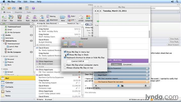 Using My Day: Outlook for Mac 2011 Power Shortcuts