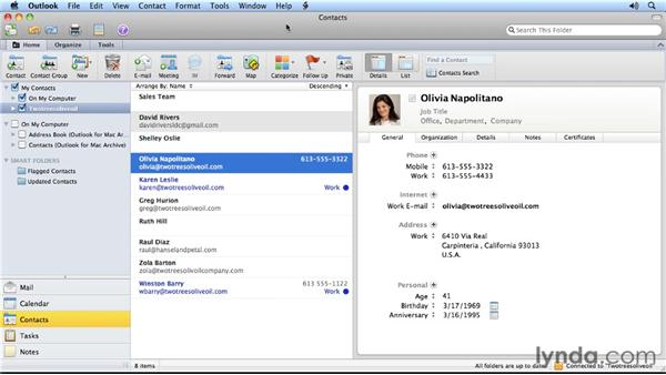 Outlook For Mac 2011 Address Book
