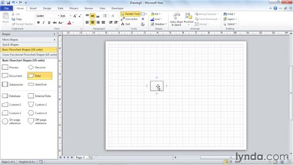 Arranging the top four SmartShapes on a stencil: Visio 2010 Essential Training