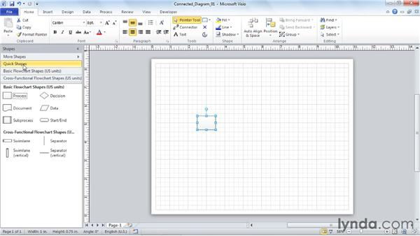 Using the Cursor-Tip selection list: Visio 2010 Essential Training