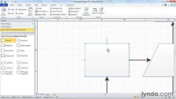 Using the Snap settings and techniques: Visio 2010 Essential Training