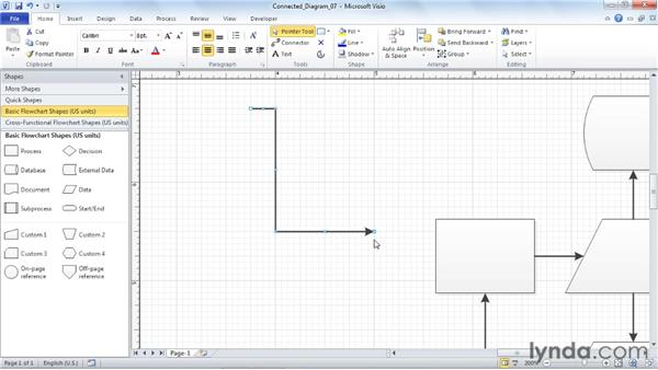 Using the Glue settings and techniques: Visio 2010 Essential Training