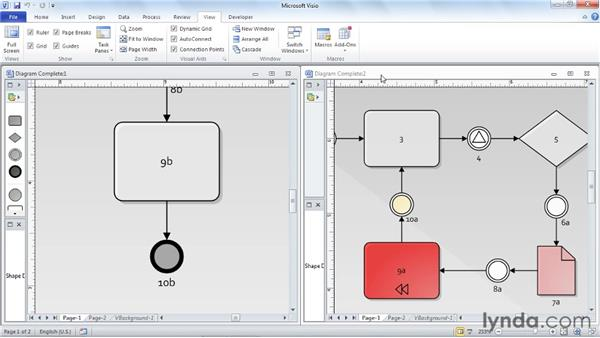 Working with windows in the Visio environment: Visio 2010 Essential Training