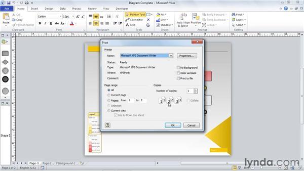 Printing diagrams: Visio 2010 Essential Training