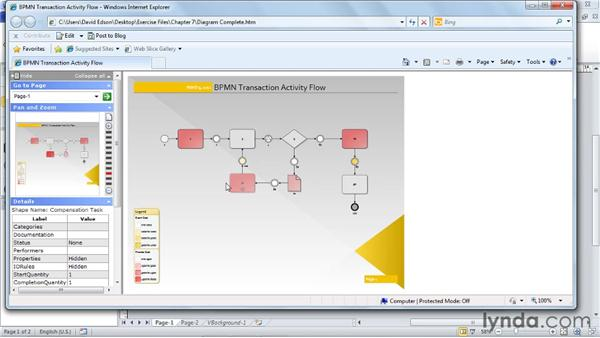 Saving diagrams to the web as HTML files: Visio 2010 Essential Training