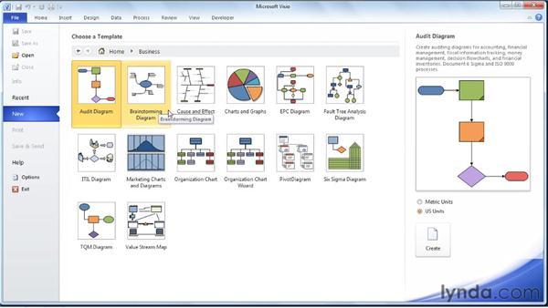 Understanding the structure of brainstorming diagrams: Visio 2010 Essential Training