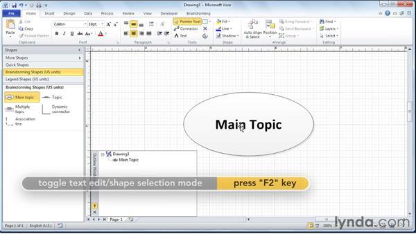 Adding the top-level topic: Visio 2010 Essential Training