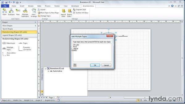 Adding multiple sub-topics: Visio 2010 Essential Training